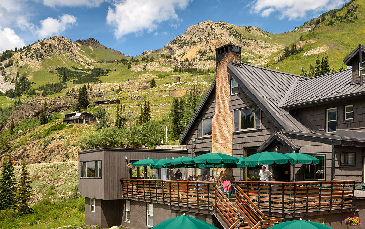 Summer on the Alta Lodge patio.