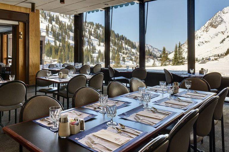 Breakfast and lunch views from Alta Lodge dining room.