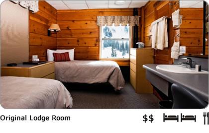 Comfortable, affordable ski lodge room in the Alta Ski Area.