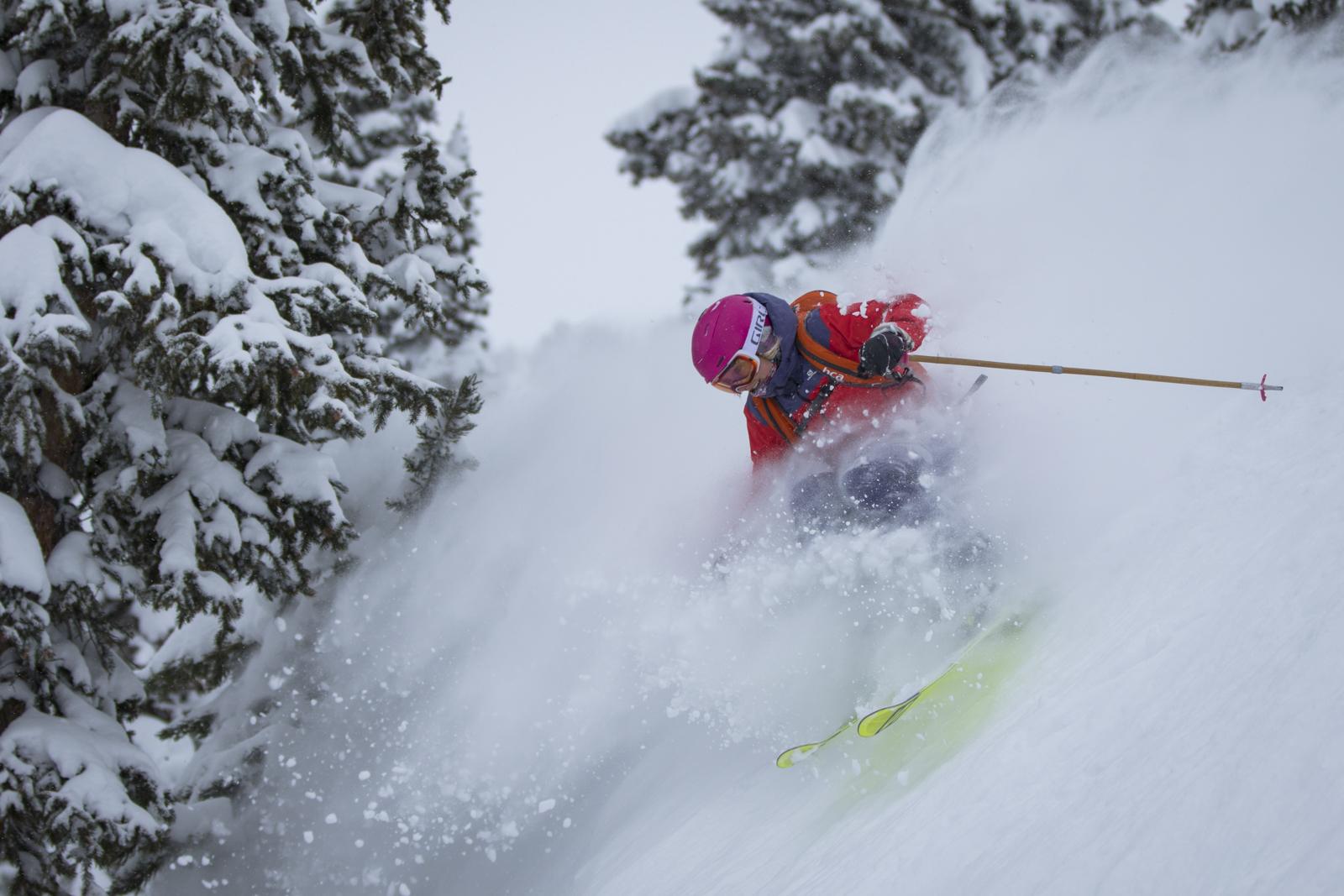 Alta Lodge guest enjoying fresh powder