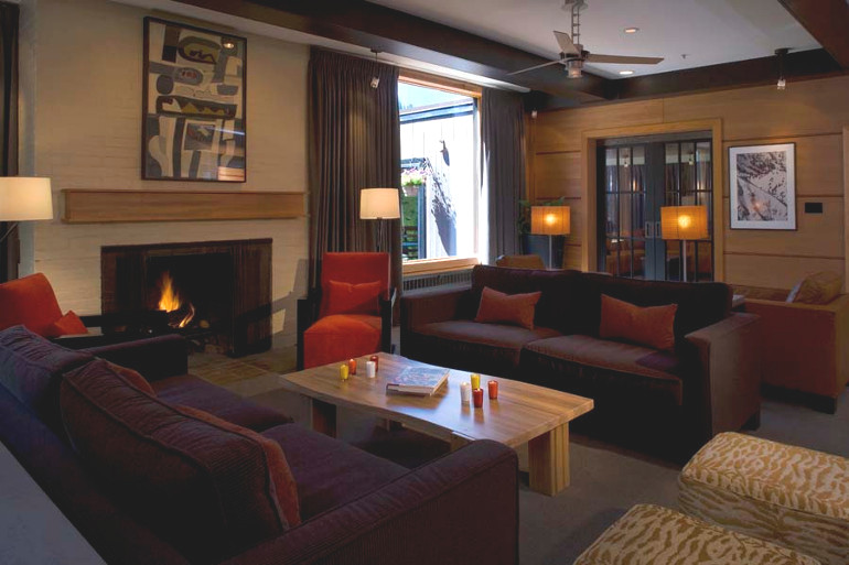 Relaxed and comfortable lobby at mountain resort