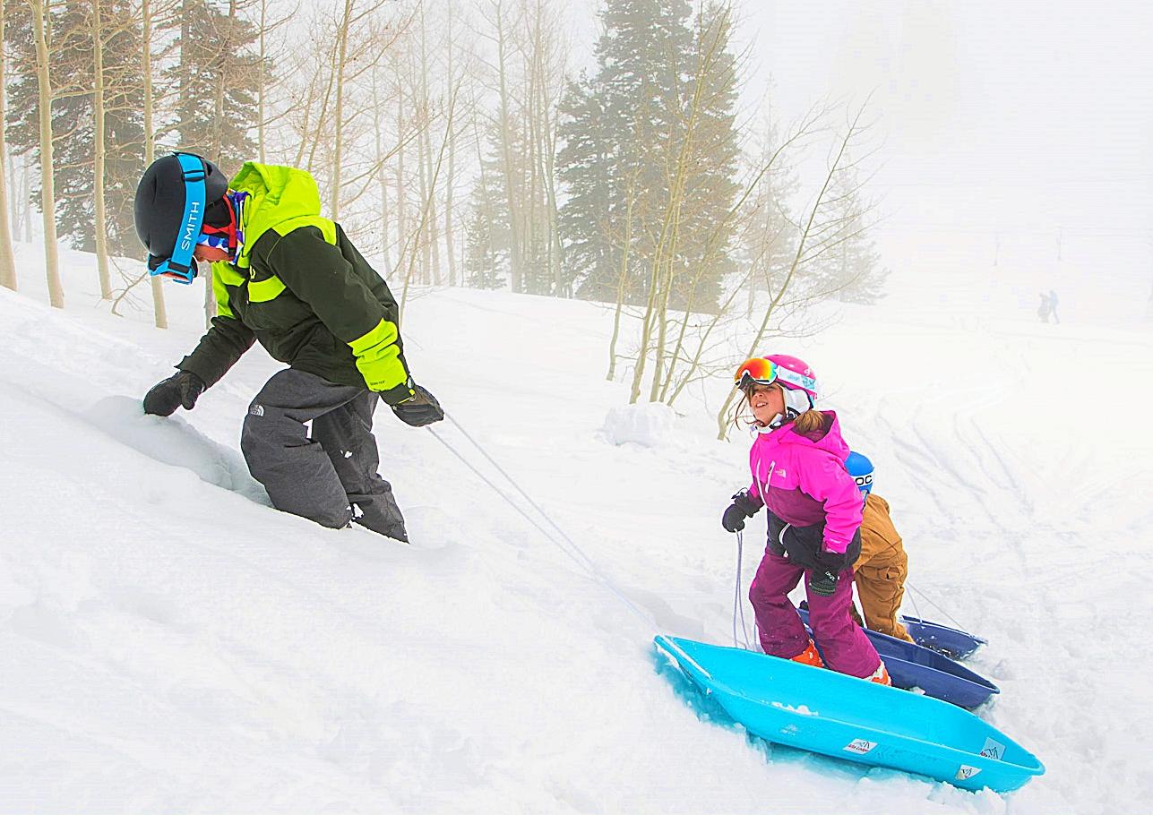 Kids' Club sledding