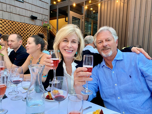 Couple at Wine Pairing Dinner